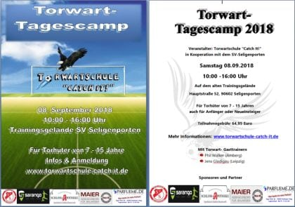 Torwart-Tagescamp am 8.September 2018